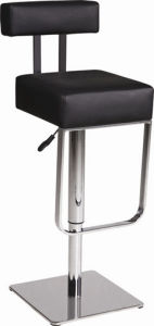 Leather Bar Stool Steel Base (T-314)