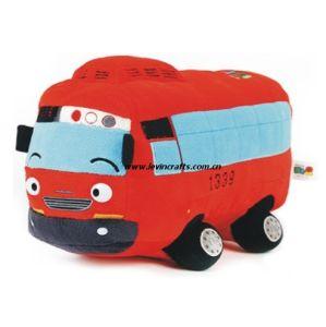 Red Plush Car Toy Pillow