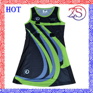 China Wholesale Custom Sublimation Netball Dress pictures & photos