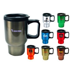 Virgin Plastic Travel Mug Auto Flask with PP Handle pictures & photos