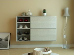 White Modern PVC Shoes Cabinet (xg-004) pictures & photos