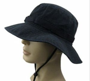 Heavy Washed Canvas Self Strap Leisure Fisherman Bucket Hat