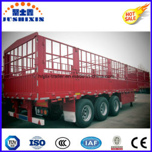 3-Axle 60t Side Wall Stake Semi Trailer, Cargo Semi Trailer pictures & photos