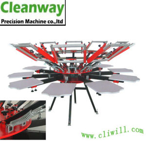 Manual 8/8 Textile Silk Screen Printing Machine with Side Clamps (CY-88N)