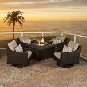 Well Furnir Rattan 5 Piece Deep Seating Group with Cushion WF-17003 pictures & photos