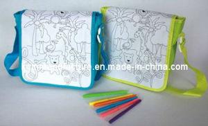 Children Draw Paint Shoulder Bag (KM4346) pictures & photos
