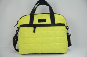 Hot Sales Fabric Laptop Bags with PU Leather pictures & photos