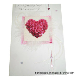 Colorful Heart-Shaped Wedding Invitation Cards Printing pictures & photos