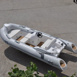 Liya 14ft PVC Rubber Boat Fiberglass Hull Inflatable Boat Hypalon for Sale pictures & photos