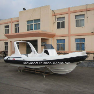 Liya 7.5m Rigid Hull Inflatable Boat Fiberglass Dinghy Hypalon Tender Rib Boat pictures & photos