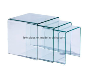 Tempered Hot Bending Glass Coffee Table pictures & photos