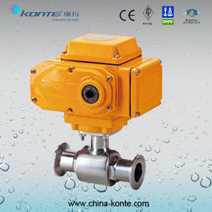 Electric Sanitary Ball Valve Ss304L Clamped End pictures & photos