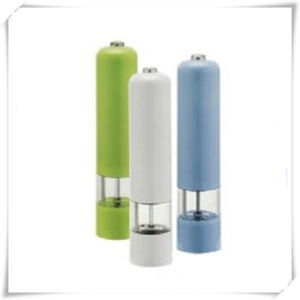 Electric Plastic Herb and Pepper Grinder for Salt (VK14005-P) pictures & photos