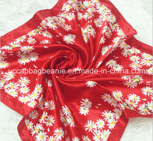 Fashion Print Satin Wholesale Square Scarves pictures & photos