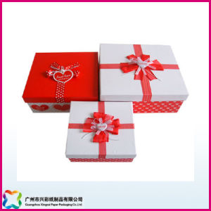 Customized Wooden Carton Paper Packaging Cardboard Gift Box Set (XC-1-013) pictures & photos