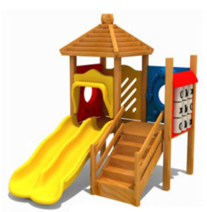 Hotsale Indoor Wooden Playground Slide For Day Care Center