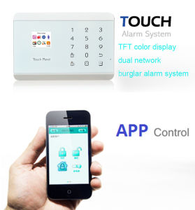 Ios APP Easy Operation GSM Burglar Alarm (KR-8218G)