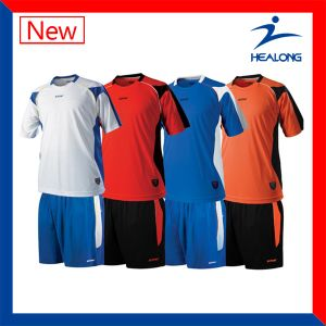 Healong Nice and Cheap Authentic Cut and Sewn Soccer Jerseys for Wholesales pictures & photos