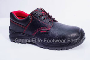 Low Cut Black Embossed Buffalo Leather Safety Shoe U Power-R1