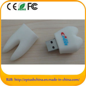 Tooth Style Self-Mould with Customer′s Logo Freely USB PVC (EG519) pictures & photos