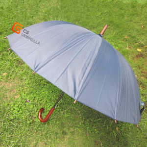 Wooden Handle Double Canopy Golf Umbrella (YSG009) pictures & photos