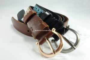New Fashion Women Leather Belt with Nickel-Free Buckle (EUBL0916-35) pictures & photos