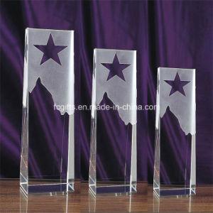 Sandblast Crystal Star Awards for Bank Anniversary (JB928)