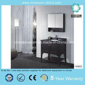 Wooden Home Hotel Bathroom Vanity Furniture MDF Bathroom Cabinet (BLS-NA022) pictures & photos