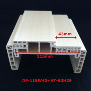 New Arrival a Style WPC Door Frame Laminate Door Profile Door Pocket Strong and Durabale Df-115W43 pictures & photos