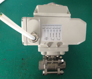 Electric 3PC Ball Valve 24V DC pictures & photos