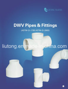 UPVC 45deg Street Elbow ASTM D2665 Standard for Dwv Drain Water with NSF Certificate pictures & photos