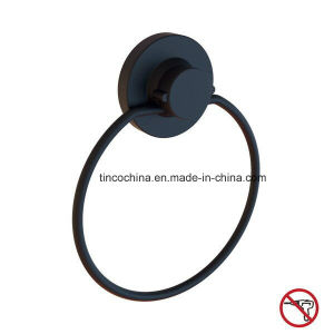 Matt Black Powder Coating Suction Cup Towel Ring