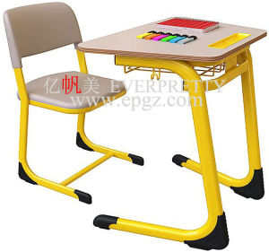Classroom Furniture Fixable Single Desk & Chair pictures & photos