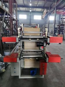 Double Layer Point Cutting Rolling Bag Making Machine (DZB500-800) pictures & photos