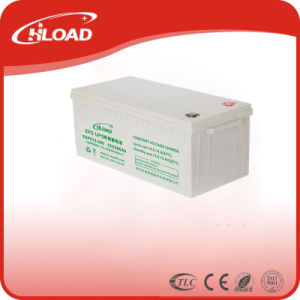 12V 200ah AGM Power Supply Solar Gel Rechargeable Battery pictures & photos