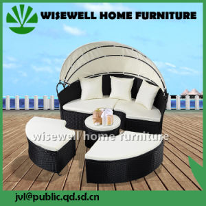 Outdoor Patio Sofa Furniture Round Retractable Canopy Daybed (WXH-007) pictures & photos