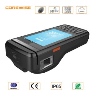 Android Magnetic Card Reader with Single Card Slot and Free Sdk, POS Terminal with Fingerprint Reader pictures & photos