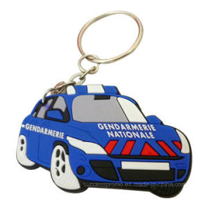 Car Shaped Custom Soft PVC Keychain, Plastic Keychain pictures & photos