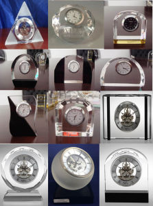 Wedding Gift Clock Crystal Clock M-3156 Skeleton Clock Kit for Business Souvenir Giveaways pictures & photos