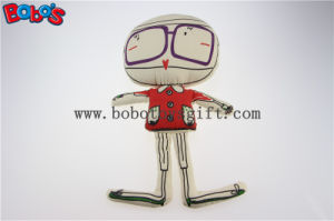 """13.8""""Height Eco-Friendly Fabric Customized Stuffed Doll with Printing Line Bos1130 pictures & photos"""