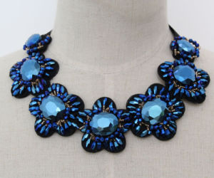 Lady Luxury Crystal Costume Jewelry Choker Collar Necklace (JE0159-4) pictures & photos
