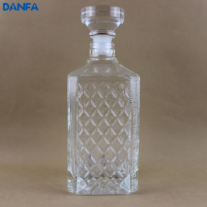 Premium Glass Spirits Bottle (Embossment & Glass Stopper) pictures & photos