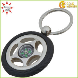 Hot Sale Metal Compass Keyrings pictures & photos
