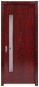 Interior Glass Wooden Door for Wc pictures & photos