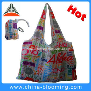 Hot Promotion Polyester Foldable Recycled Tote Shopping Bag pictures & photos