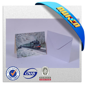 3D Lenticular Train Postcard with Blank Envelope pictures & photos