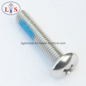 Stainless Steel 304 Round Head Bolt with Nylok pictures & photos