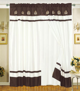Embroidered Window Curtain 01