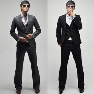 One-Button 3PCS 1button Designed Men′s Slim Fit Business Suits pictures & photos