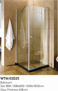 with Hinge Door Half-Frameless Shower Enclosure pictures & photos